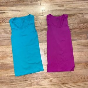 Tops - Set Of 2 Tanks - blue/purple - One Size Fits Most